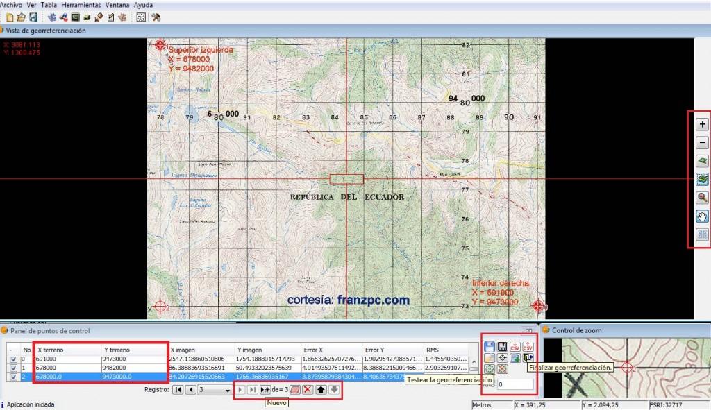 Georreferenciar en gvSIG