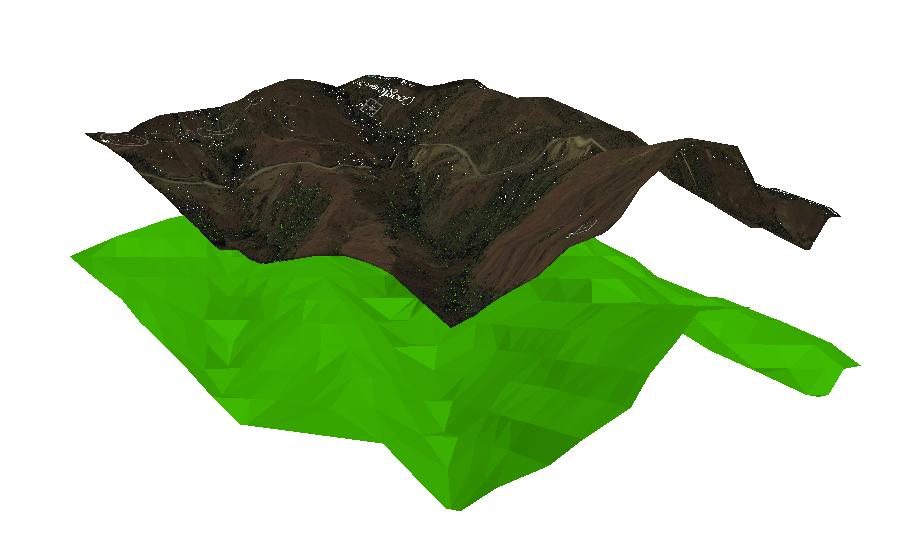 Relieve imagen satelital ArcGIS